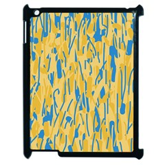Yellow And Blue Pattern Apple Ipad 2 Case (black) by Valentinaart