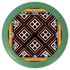 Toraja Pattern Pa re po  Sanguba ( Dancing Alone ) Color Wall Clock by Etnousta