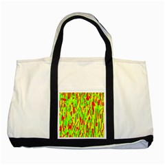 Green And Red Pattern Two Tone Tote Bag by Valentinaart