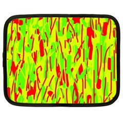 Green And Red Pattern Netbook Case (large) by Valentinaart