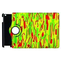 Green And Red Pattern Apple Ipad 2 Flip 360 Case by Valentinaart
