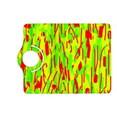 Green And Red Pattern Kindle Fire Hd (2013) Flip 360 Case by Valentinaart