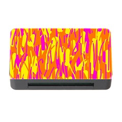 Pink And Yellow Pattern Memory Card Reader With Cf by Valentinaart