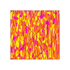 Pink And Yellow Pattern Acrylic Tangram Puzzle (4  X 4 ) by Valentinaart