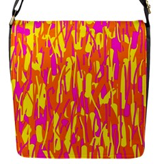 Pink And Yellow Pattern Flap Messenger Bag (s) by Valentinaart