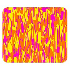 Pink And Yellow Pattern Double Sided Flano Blanket (small)  by Valentinaart