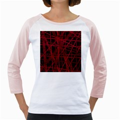 Black and red pattern Girly Raglans by Valentinaart
