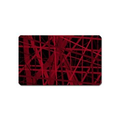 Black And Red Pattern Magnet (name Card) by Valentinaart