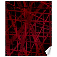 Black And Red Pattern Canvas 8  X 10  by Valentinaart
