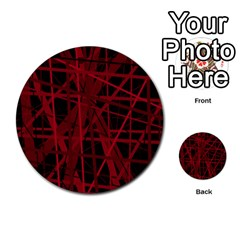 Black And Red Pattern Multi Purpose Cards (round)  by Valentinaart