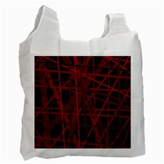 Black And Red Pattern Recycle Bag (one Side) by Valentinaart
