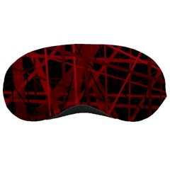 Black And Red Pattern Sleeping Masks by Valentinaart