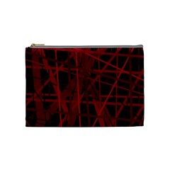 Black And Red Pattern Cosmetic Bag (medium)  by Valentinaart