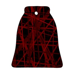 Black And Red Pattern Bell Ornament (2 Sides) by Valentinaart