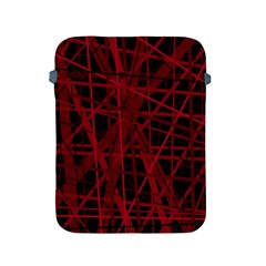 Black And Red Pattern Apple Ipad 2/3/4 Protective Soft Cases by Valentinaart