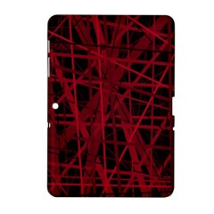 Black And Red Pattern Samsung Galaxy Tab 2 (10 1 ) P5100 Hardshell Case  by Valentinaart