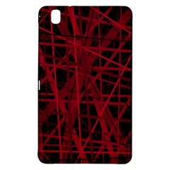 Black And Red Pattern Samsung Galaxy Tab Pro 8 4 Hardshell Case by Valentinaart