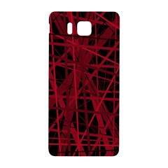 Black And Red Pattern Samsung Galaxy Alpha Hardshell Back Case by Valentinaart