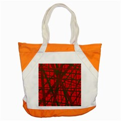 Red Pattern Accent Tote Bag by Valentinaart