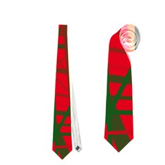 Red Pattern Neckties (two Side)  by Valentinaart