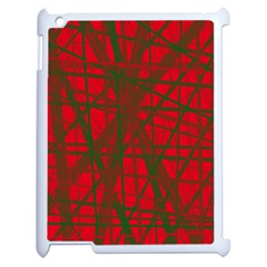 Red Pattern Apple Ipad 2 Case (white) by Valentinaart