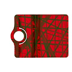 Red Pattern Kindle Fire Hd (2013) Flip 360 Case by Valentinaart