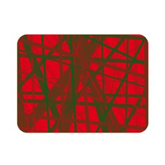 Red pattern Double Sided Flano Blanket (Mini)