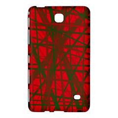 Red Pattern Samsung Galaxy Tab 4 (7 ) Hardshell Case  by Valentinaart