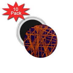 Blue And Orange Pattern 1 75  Magnets (10 Pack)  by Valentinaart