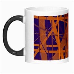 Blue And Orange Pattern Morph Mugs