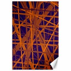 Blue And Orange Pattern Canvas 20  X 30   by Valentinaart