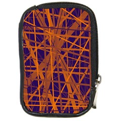 Blue And Orange Pattern Compact Camera Cases by Valentinaart