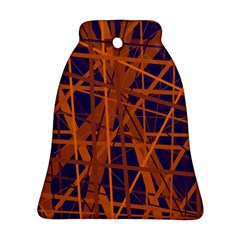 Blue and orange pattern Bell Ornament (2 Sides) by Valentinaart