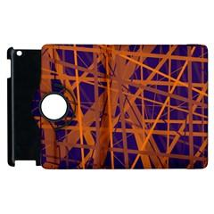 Blue And Orange Pattern Apple Ipad 3/4 Flip 360 Case by Valentinaart