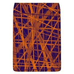 Blue And Orange Pattern Flap Covers (s)  by Valentinaart