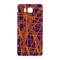Blue And Orange Pattern Samsung Galaxy Alpha Hardshell Back Case by Valentinaart