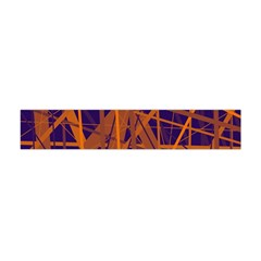 Blue And Orange Pattern Flano Scarf (mini) by Valentinaart