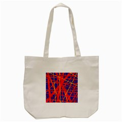 Orange And Blue Pattern Tote Bag (cream) by Valentinaart