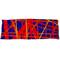 Orange And Blue Pattern Body Pillow Case (dakimakura) by Valentinaart
