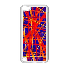Orange And Blue Pattern Apple Ipod Touch 5 Case (white) by Valentinaart