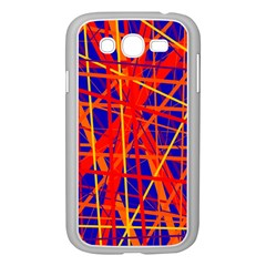 Orange And Blue Pattern Samsung Galaxy Grand Duos I9082 Case (white) by Valentinaart
