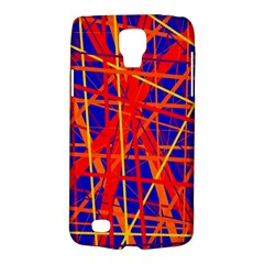 Orange And Blue Pattern Galaxy S4 Active by Valentinaart