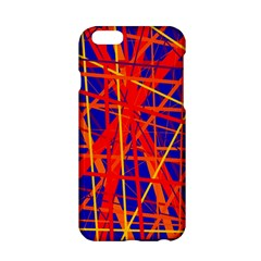 Orange And Blue Pattern Apple Iphone 6/6s Hardshell Case by Valentinaart
