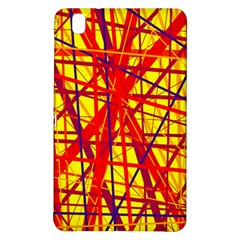 Yellow And Orange Pattern Samsung Galaxy Tab Pro 8 4 Hardshell Case by Valentinaart