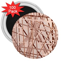 Brown Pattern 3  Magnets (100 Pack) by Valentinaart