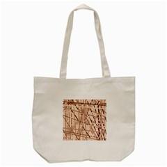 Brown Pattern Tote Bag (cream) by Valentinaart