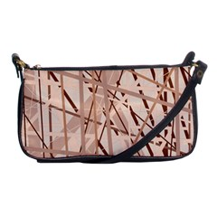 Brown Pattern Shoulder Clutch Bags by Valentinaart