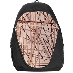 Brown Pattern Backpack Bag by Valentinaart