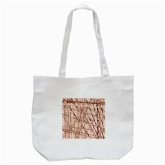 Brown Pattern Tote Bag (white) by Valentinaart