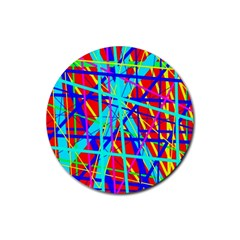 Colorful Pattern Rubber Round Coaster (4 Pack)  by Valentinaart